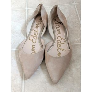 Sam Edelman Beige Nude Point Toe Flats Size 9